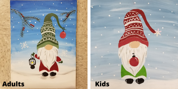 Christmas Gnome Canvas Online Cut And Paste Craft Studio
